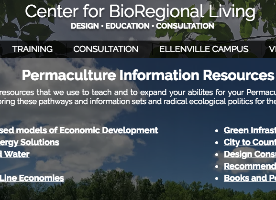 Center for BioRegional Living Company Logo by Andrew Faust in Ellenville NY